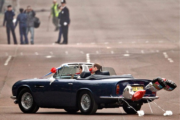 prince william kate middleton royal wedding convertible