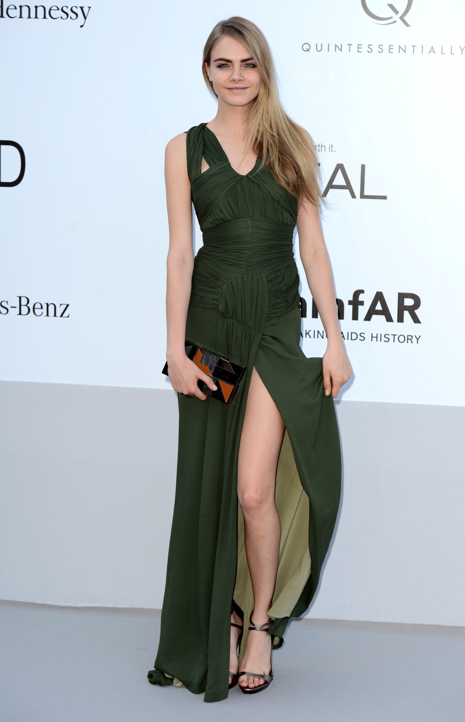 Cara Delevingne Steps Out In Wearing Green Wig After