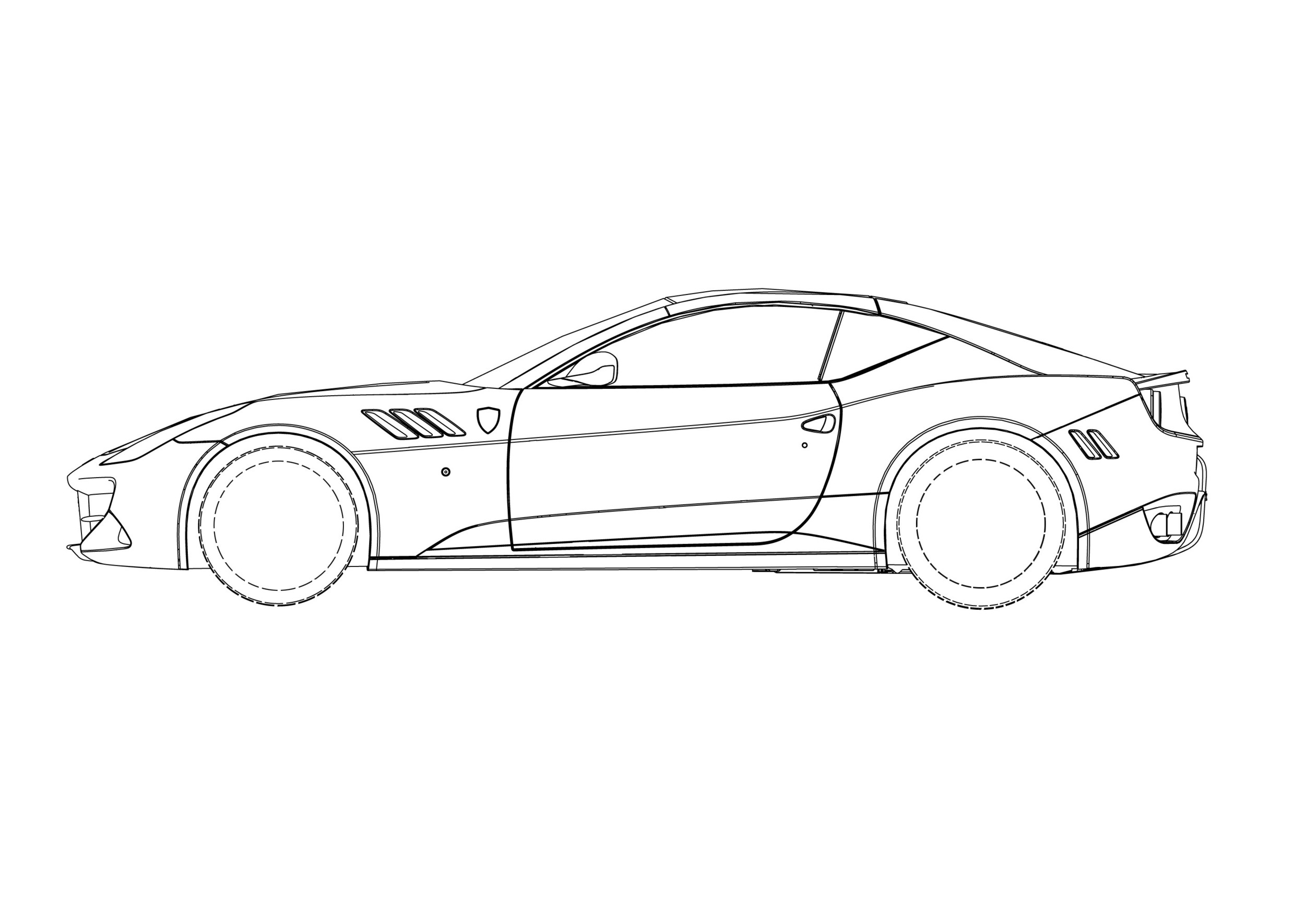 Ferrari Ff Coupe Patent Drawings Photo Gallery Autoblog Light Switch Off Drawing Images Pictures Becuo
