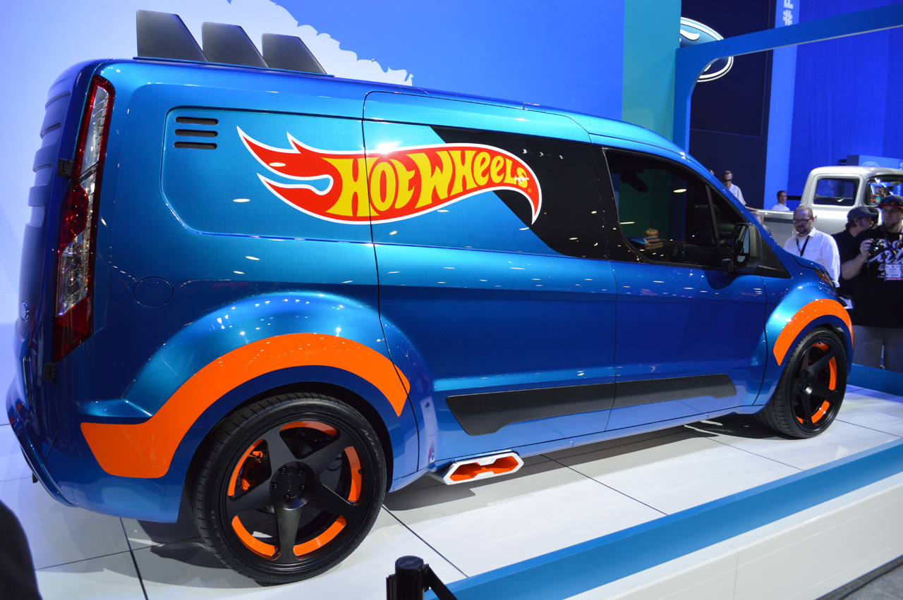 ford transit connect hot wheels sema 2013 photo gallery. Black Bedroom Furniture Sets. Home Design Ideas