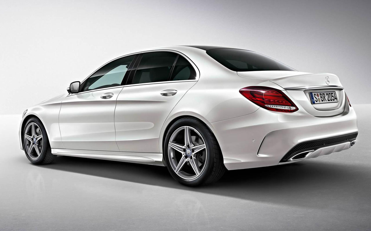 2015 mercedes benz c class amg line exterior pack photo. Black Bedroom Furniture Sets. Home Design Ideas