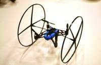 Parrot's MiniDrone climbs walls, rolls across the ceiling, is really, really small