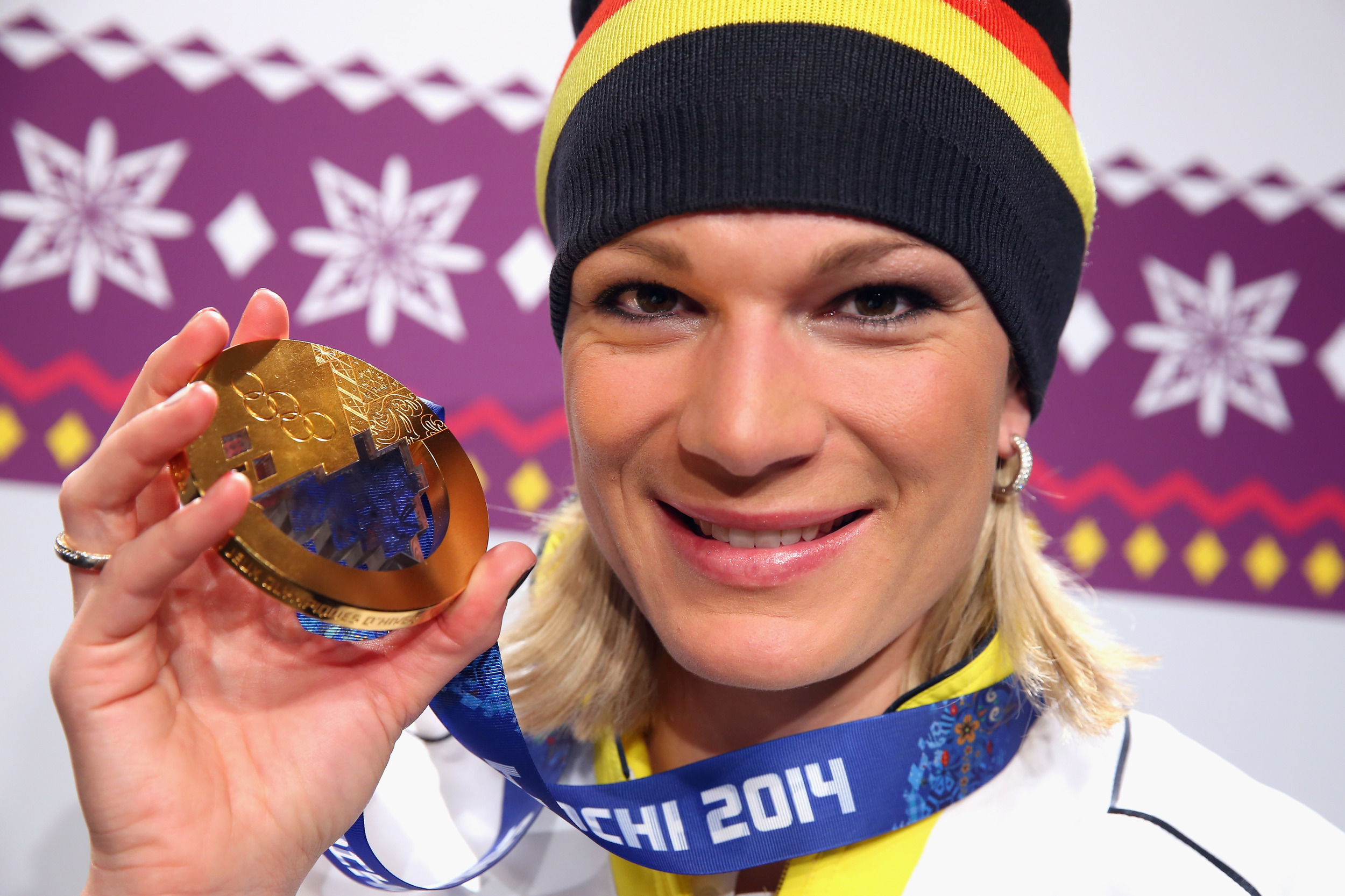 Maria Hofl-Riesch HoeflRiesch wins 2nd gold in supercombined slalom AOL - 468378453-1