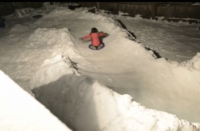 family builds awesome luge course in backyard aol news