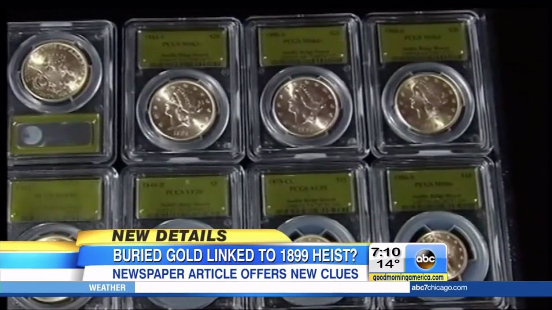 10m in gold coins found in yard might be linked to 1899 heist