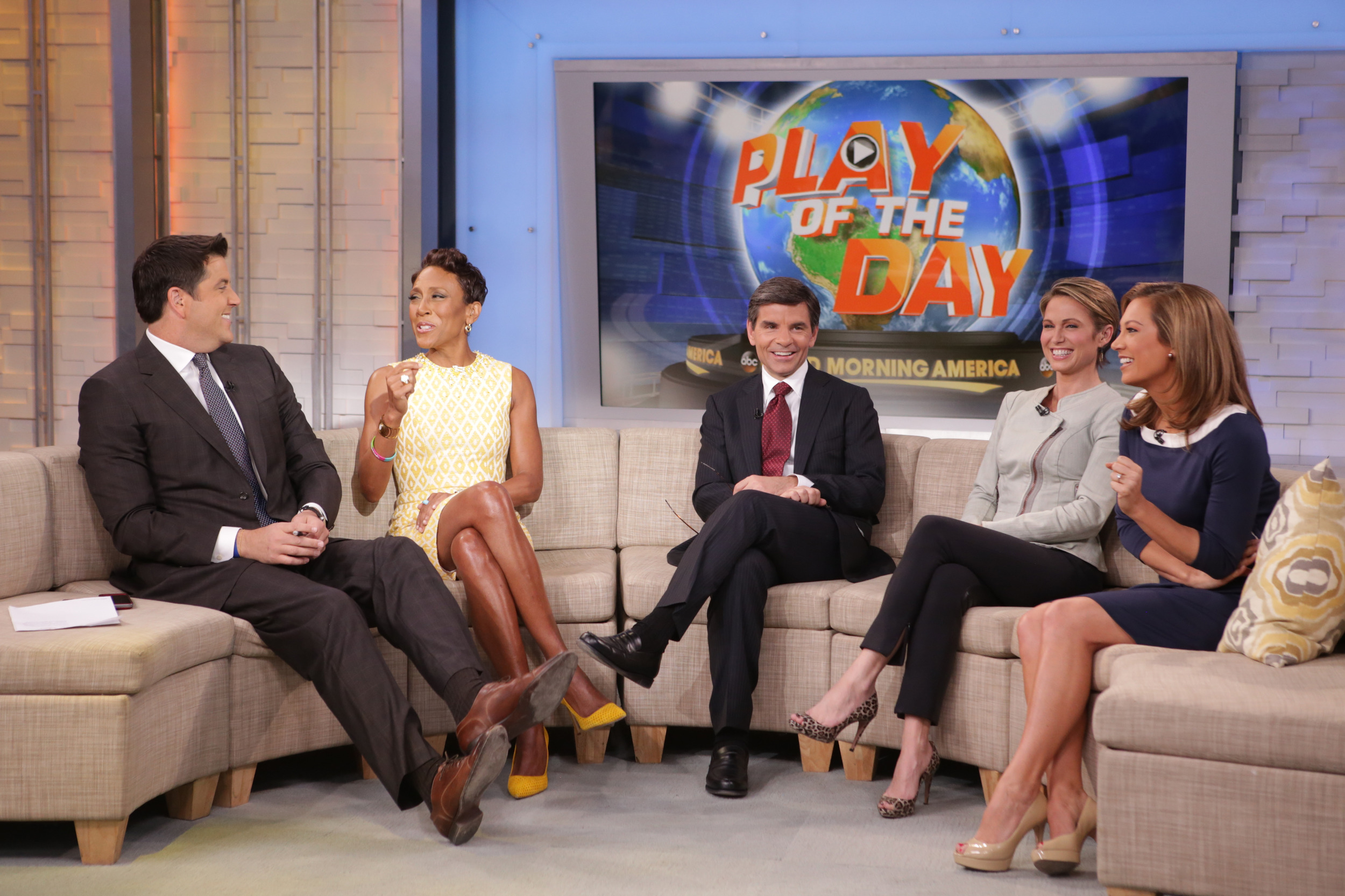Good Morning America Photos : Strahan to join good morning america part time aol