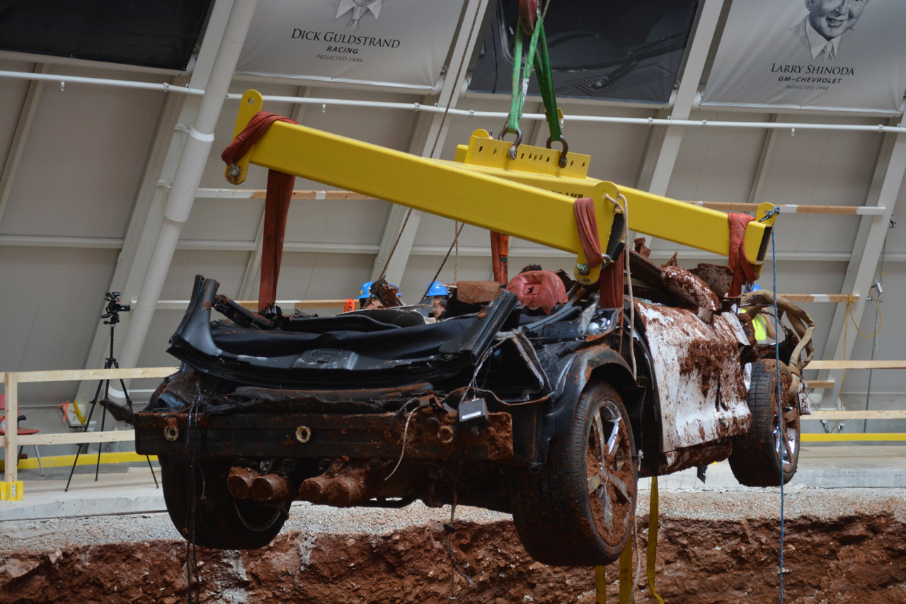 National Corvette Museum Car Recovery Photo Gallery Autoblog