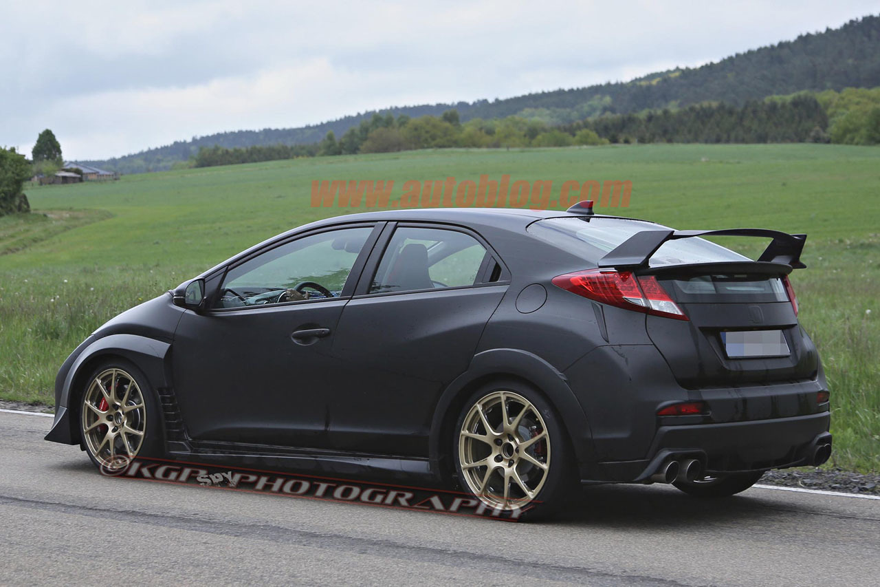 2015 honda civic type r spy shots photo gallery autoblog. Black Bedroom Furniture Sets. Home Design Ideas