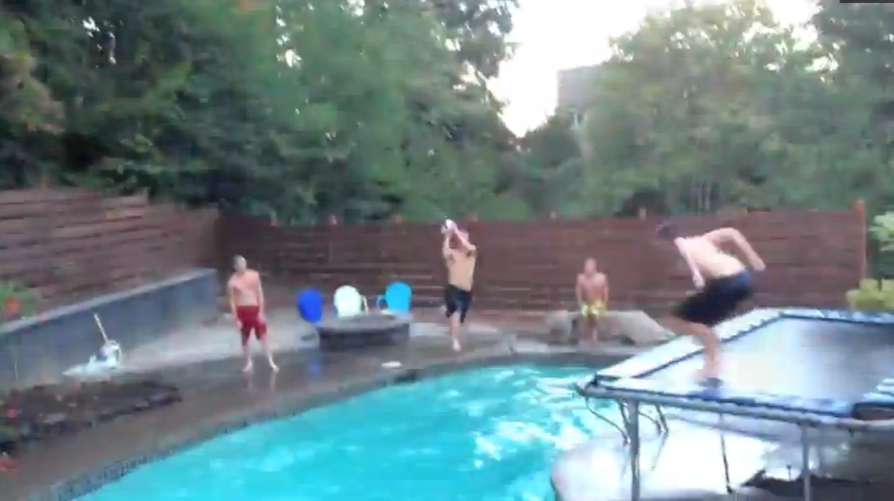 Jambroz heat things up with epic pool dunk aol news for Epic pool show