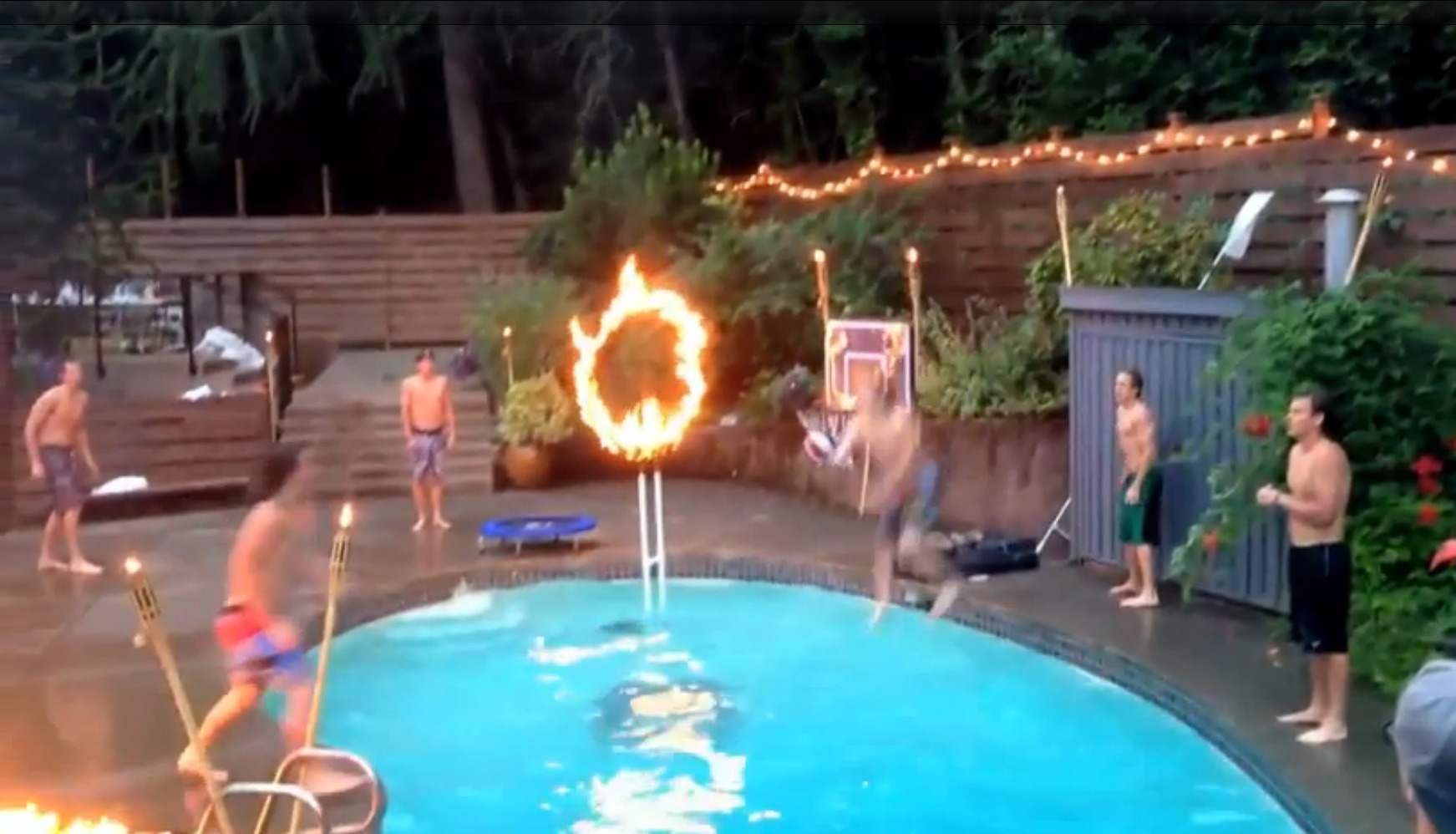 Jambroz heat things up with epic pool dunk for Epic pool show