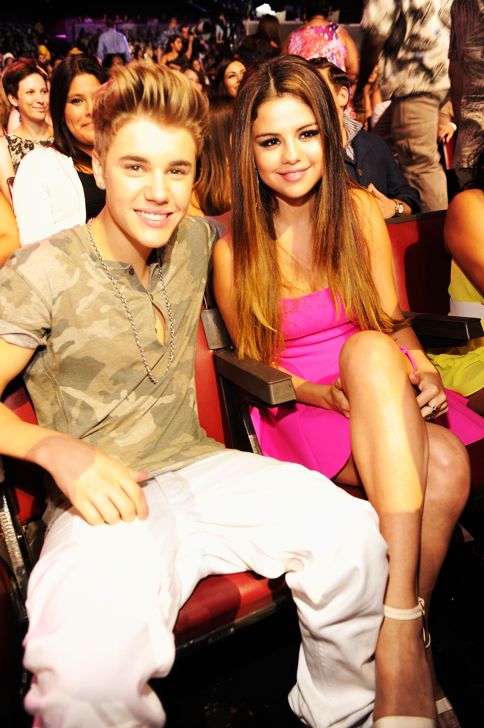 1 at the 2012 teen choice awards backstage audience selena gomez and justin bieber