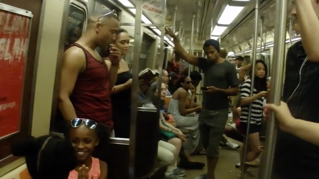 'The Lion King' cast surprises New Yorkers on subway
