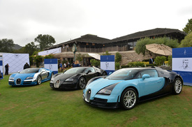 all six bugatti veyron legend editions gather at the quail autoblog. Black Bedroom Furniture Sets. Home Design Ideas