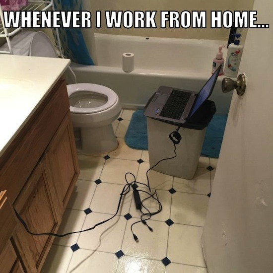 Funny working from home pictures to pin on pinterest for Work from home pictures
