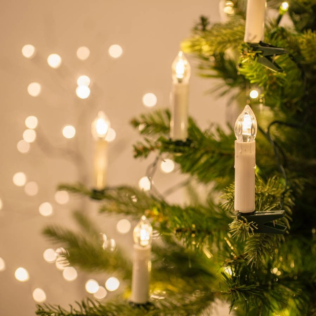 String Of Candle Lights For Christmas Tree : Christmas lights: 12 of the best to brighten up your tree - MyDaily UK