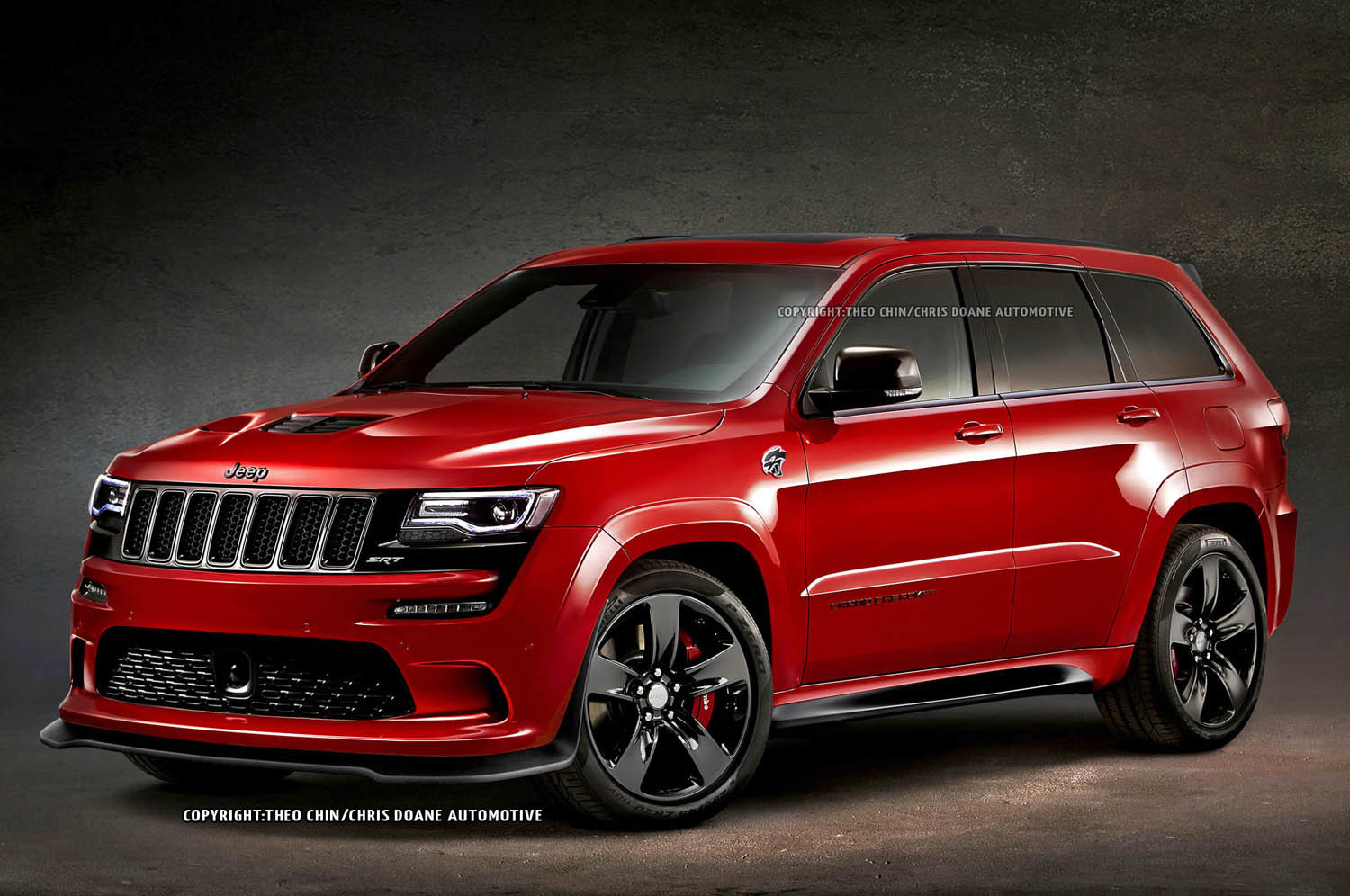 2015 jeep grand cherokee srt hellcat rendering photo gallery autoblog. Black Bedroom Furniture Sets. Home Design Ideas