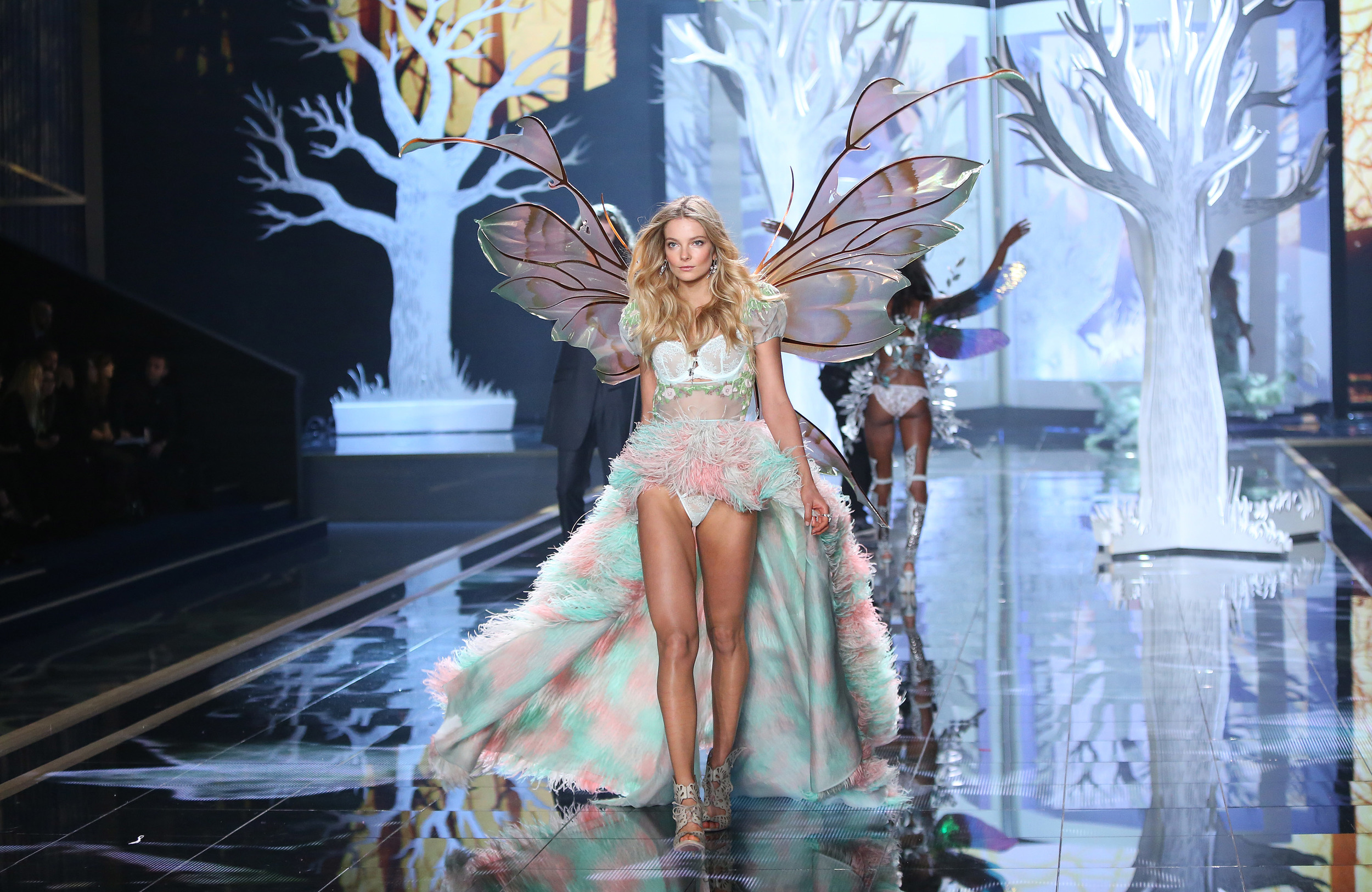 2014 Victoria's Secret Fashion Show Hozier Eniko Mihalik During Hozier