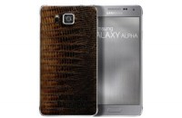 Samsung gives its metal-framed Galaxy Alpha a leather backside