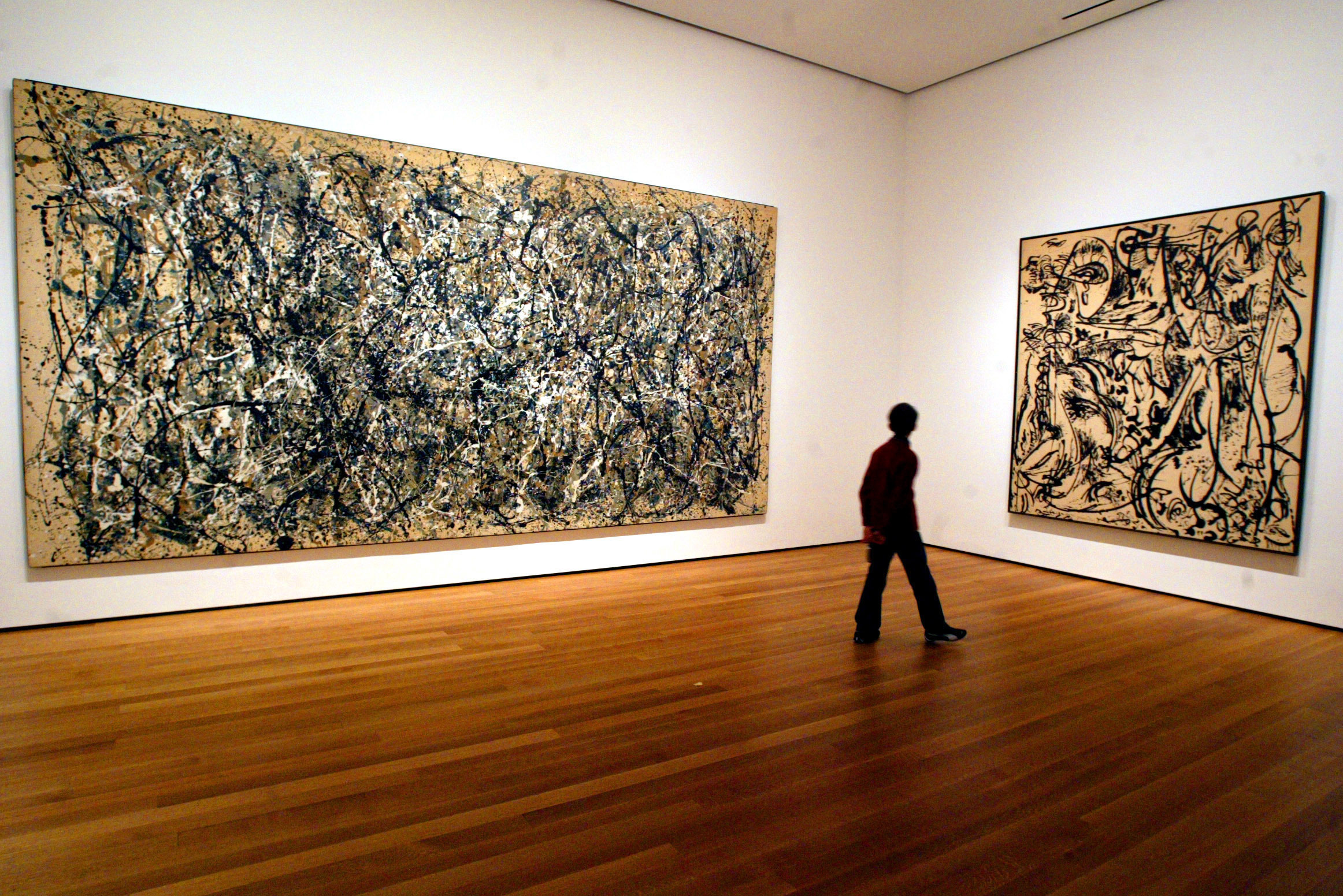 jackson pollock painting analysis Pollock's innovative abstractions evoke the power of nature, but also suggest man's entrapment in an anxious mind and body, and in the frightening modern world.