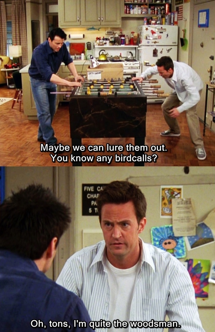 56 times chandler bing was the best part of 39 friends for Table no 21 full movie