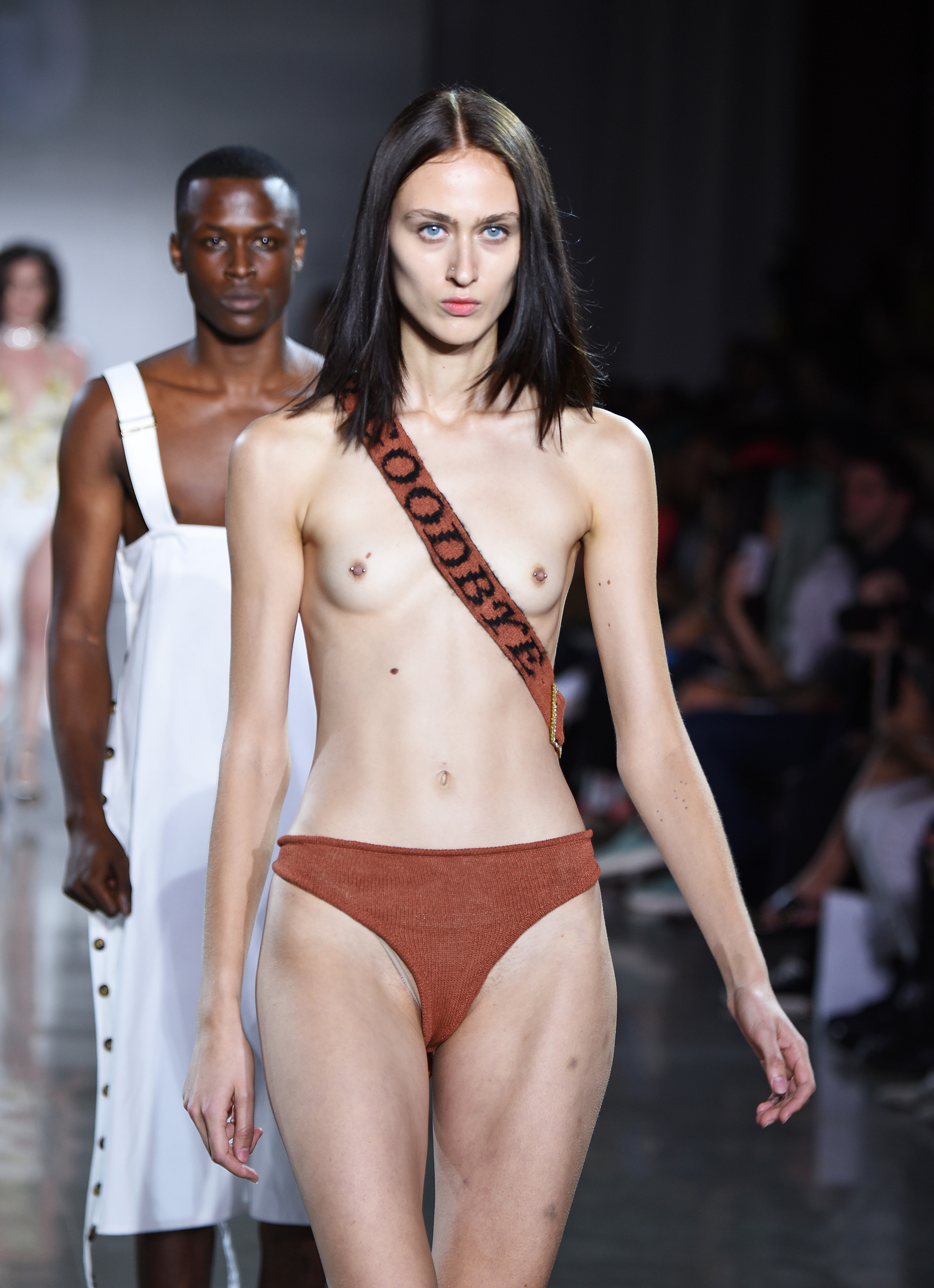 adult nude models on the runway