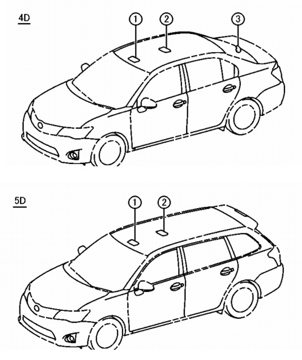 toyota corolla wagon technical drawing photo gallery