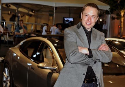 Dead end: Tesla Motors founder Elon Musk, who made his fortune with PayPal, now says he's broke.