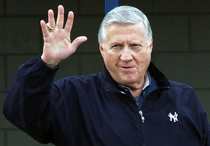 Saying goodbye: Longtime New York Yankees owner George Steinbrenner died on Tuesday at the age of 80.