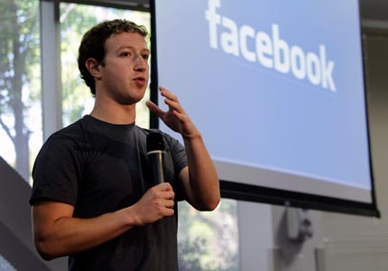 Local celebrity: Facebook's Mark Zuckerberg is going after the local market with a new mobile app.