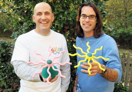 So silly: Chad Walters and Dave Gerolemon teamed up to create the Silly Stand, an organizer for Silly Bandz.