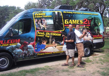 Game on: Games2U David and Stuart Pikoff turn vans and trailers into mobile party units.
