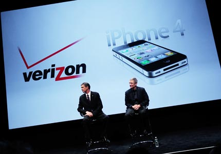 Finally: Verizon Wireless CEO Dan Mead and Apple COO Tim Cook announce the long-anticipated Verizon iPhone.