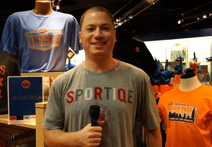 A good sport: Jason Franklin's Sportiqe now has apparel licensing deals with the NBA and NCAA.