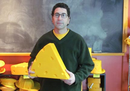 Wedge issue: Foamation founder Ralph Bruno created the iconic Cheesehead hat out of his mom's couch.