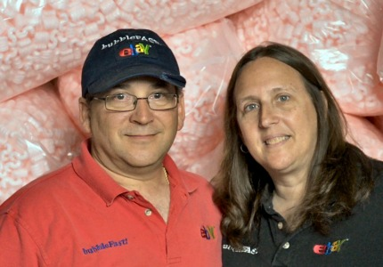 Power (seller) couple: Mark and Robin LeVine earn $1 million a year selling bubble wrap and other packing supplies on eBay.