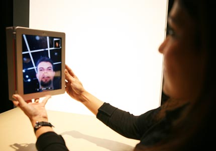 Ready for your closeup: Videoconferencing is one of new business-friendly features on the iPad 2.