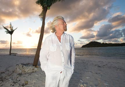 Looking up: Sir Richard Branson serves as a role model for many members of our Board of Directors -- and entrepreneurs around the world.