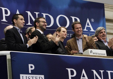 Pandora's IPO opened with shares at $20, before quickly climbing to $26, boosting company value to $4 billion.