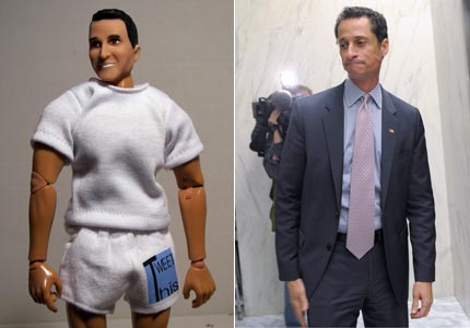 Dolled up: A Connecticut toy maker is now marketing an Anthony Weiner doll.