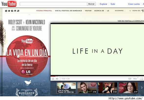 Life in a day: La película de Youtube