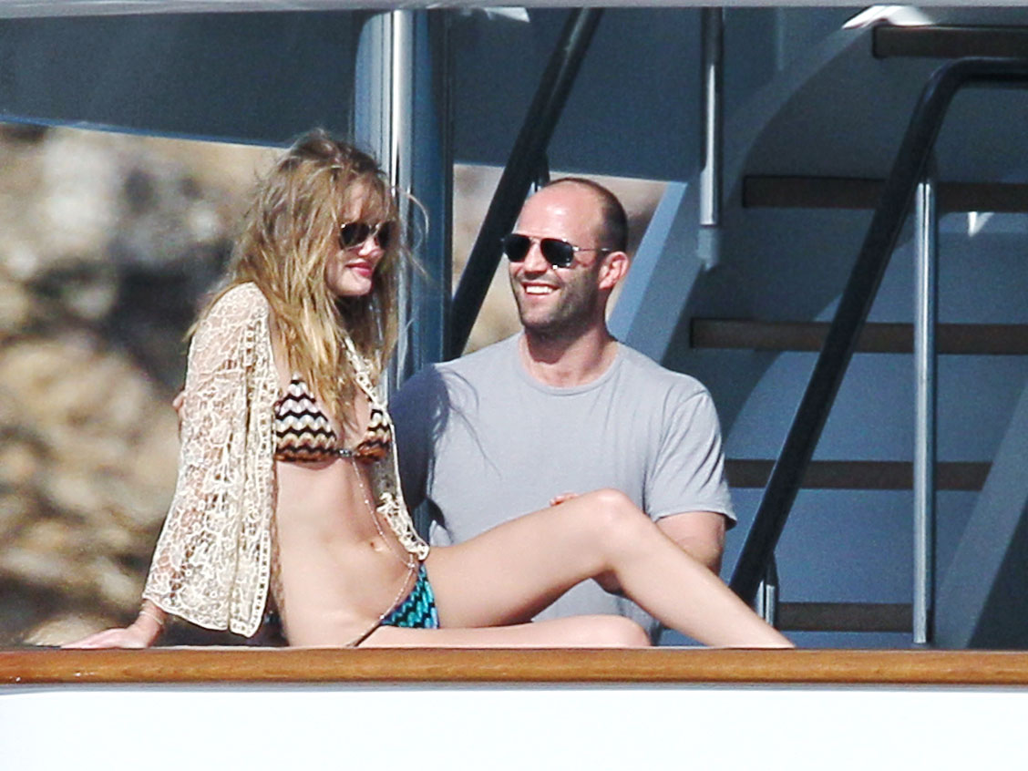 Rosie Huntington-Whiteley and Jason Statham in St Bart's