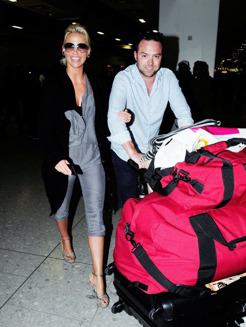 Sarah Harding in the Maldives with Tom Crane