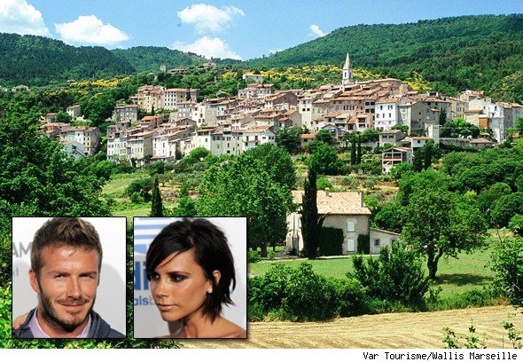 The Beckhams' French chateau