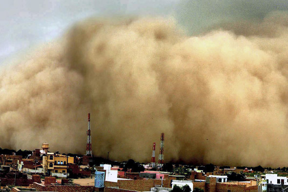 Dust storm, India