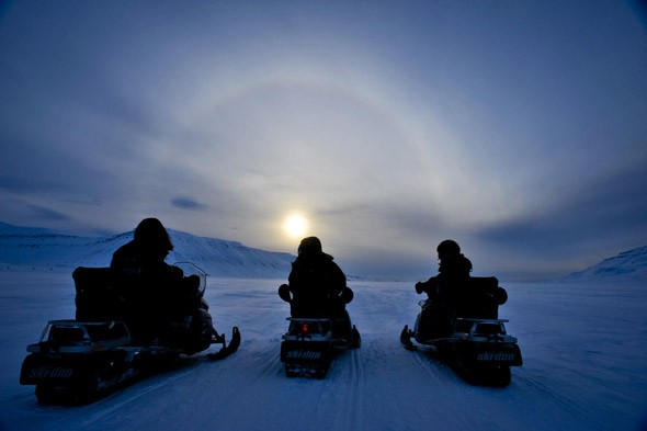 Sun halo, Arctic circle