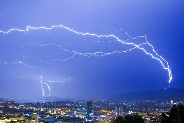 Lightning, Zurich