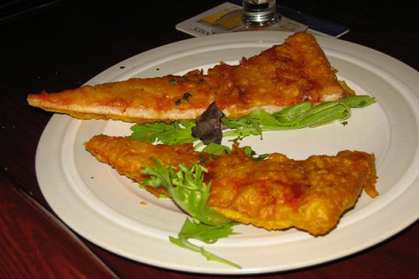 Deep fried pizza, Scotland