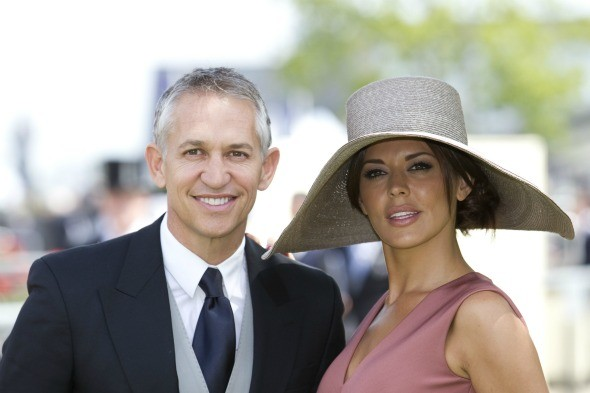 Gary Lineker and his wife, Danielle Bux