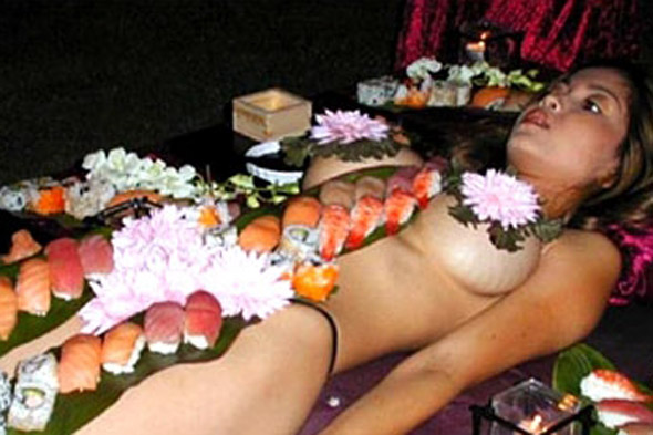 Naked Dining in Japan