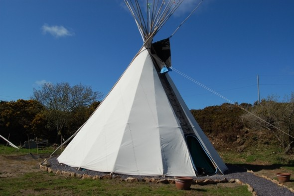 The Big Green Tipi, Llyn Peninsula, North Wales
